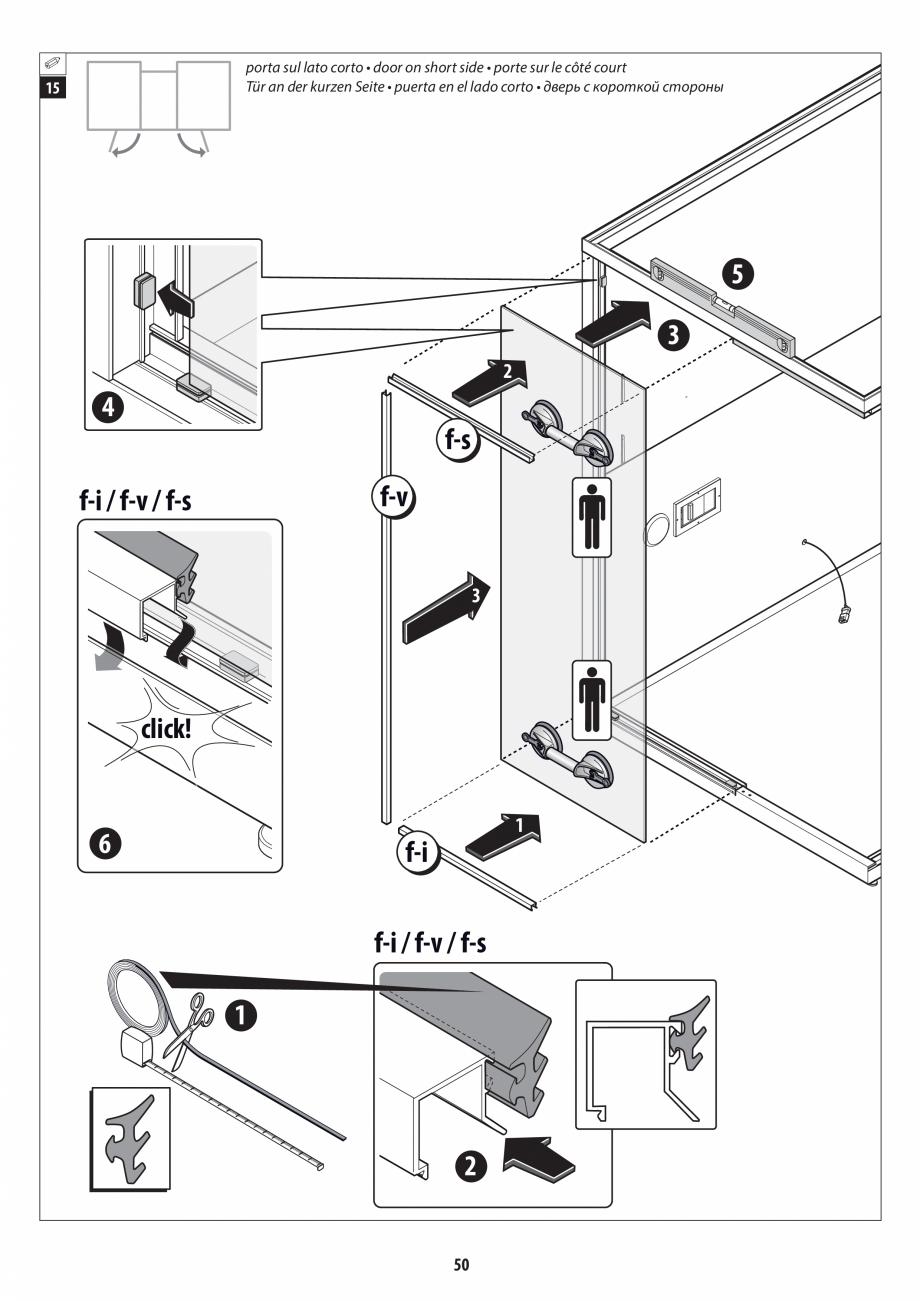 Pagina 50 - Manual de instalare pentru sauna + dus + hammam /sauna+ dus + sauna /hammam + dus +...