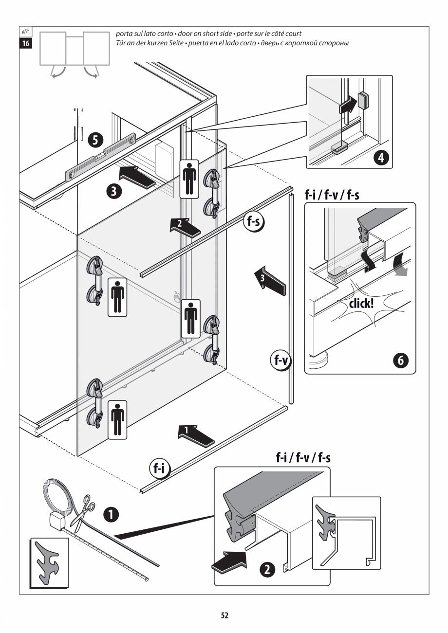 Pagina 52 - Manual de instalare pentru sauna + dus + hammam /sauna+ dus + sauna /hammam + dus +...