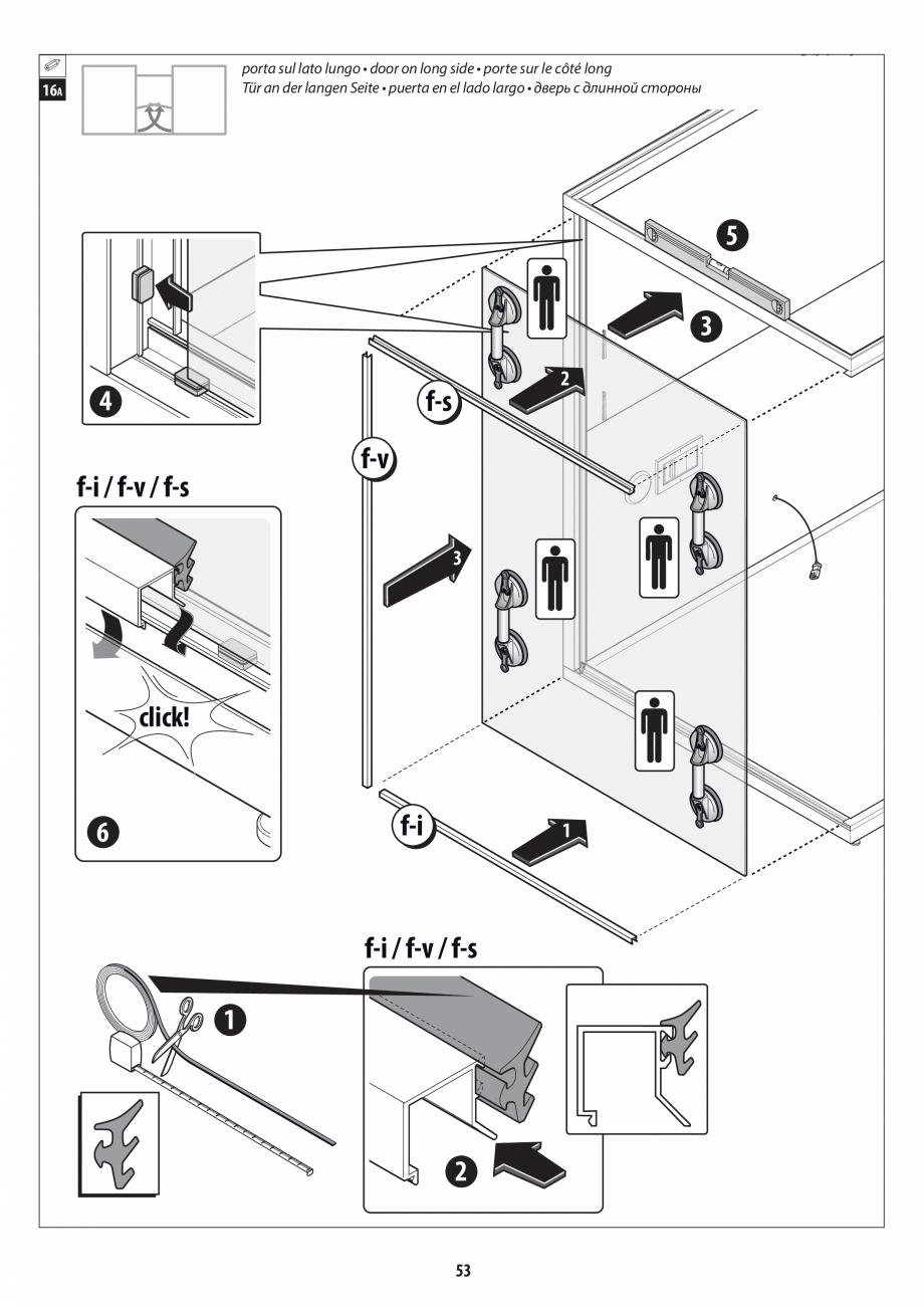 Pagina 53 - Manual de instalare pentru sauna + dus + hammam /sauna+ dus + sauna /hammam + dus +...