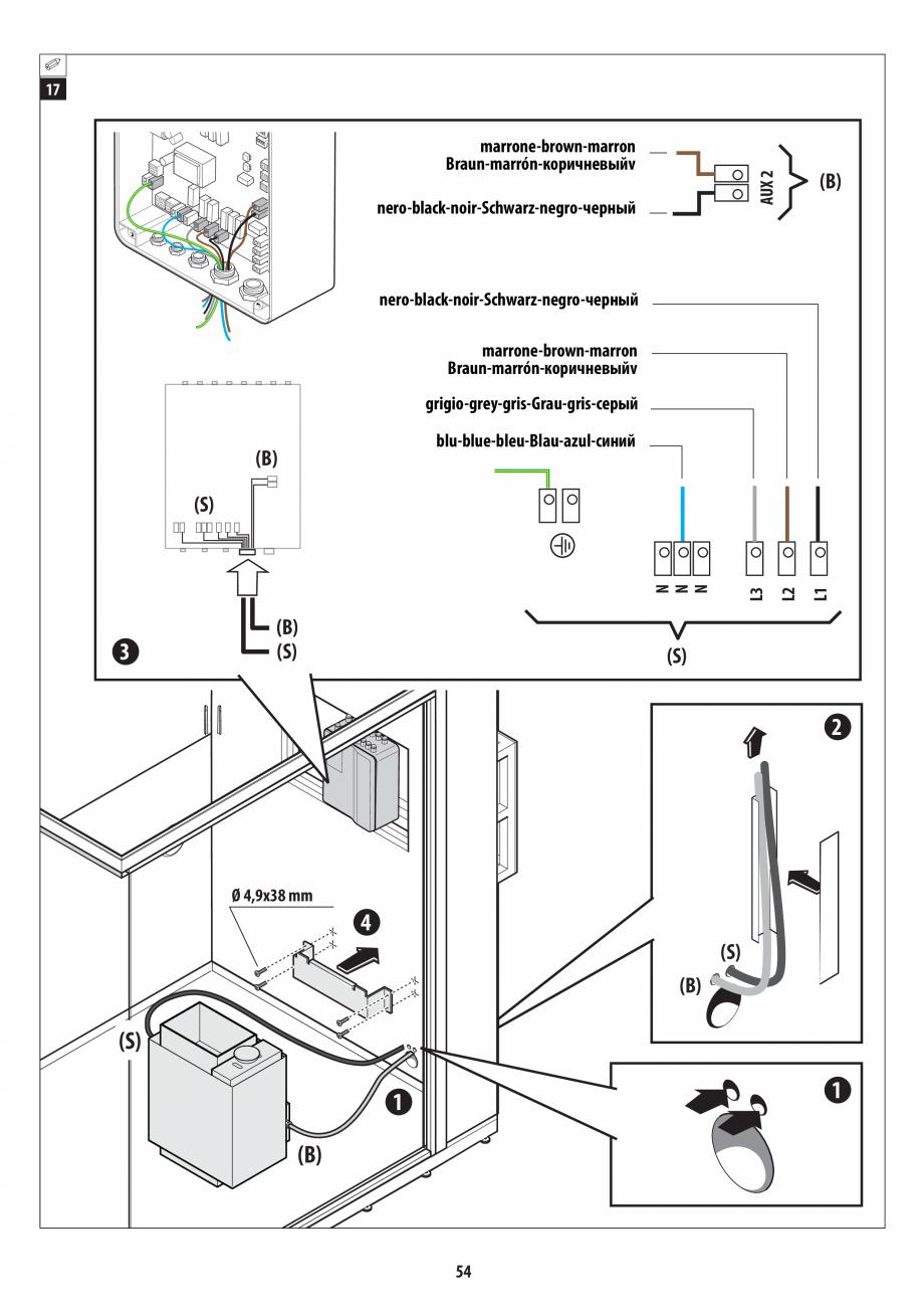 Pagina 54 - Manual de instalare pentru sauna + dus + hammam /sauna+ dus + sauna /hammam + dus +...