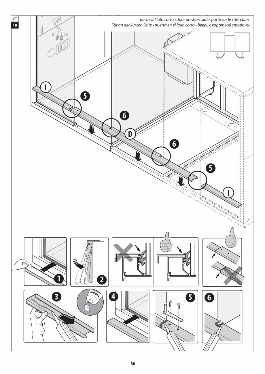 Pagina 56 - Manual de instalare pentru sauna + dus + hammam /sauna+ dus + sauna /hammam + dus +...