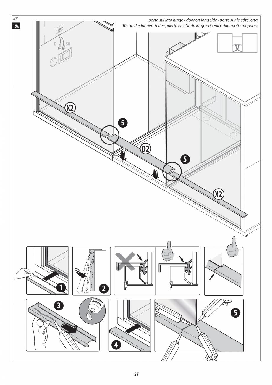 Pagina 57 - Manual de instalare pentru sauna + dus + hammam /sauna+ dus + sauna /hammam + dus +...