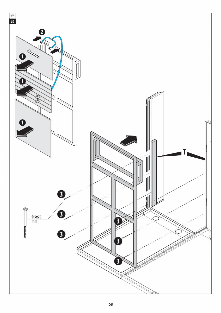 Pagina 58 - Manual de instalare pentru sauna + dus + hammam /sauna+ dus + sauna /hammam + dus +...