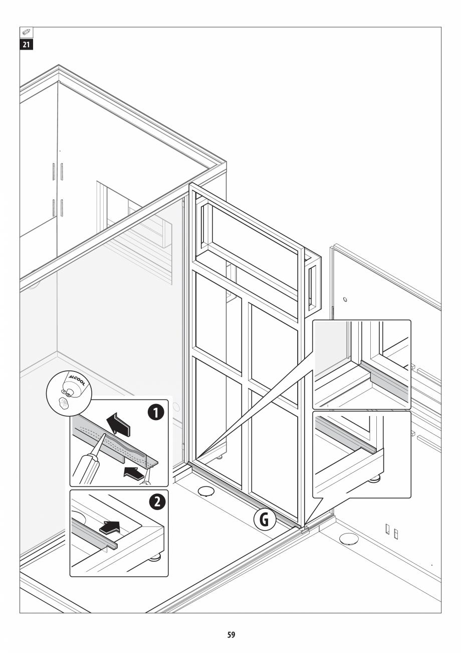Pagina 59 - Manual de instalare pentru sauna + dus + hammam /sauna+ dus + sauna /hammam + dus +...