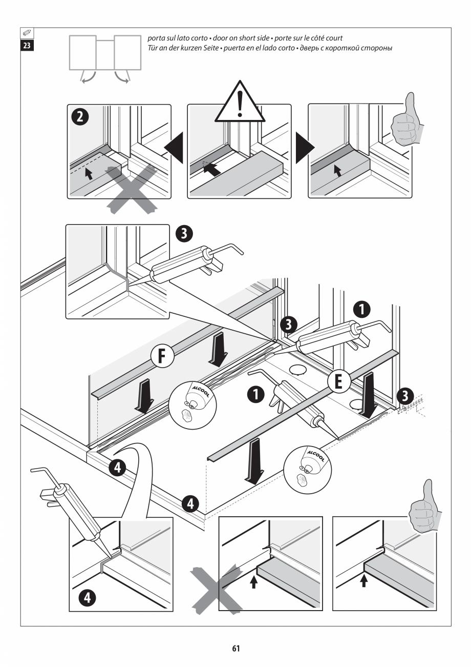 Pagina 61 - Manual de instalare pentru sauna + dus + hammam /sauna+ dus + sauna /hammam + dus +...