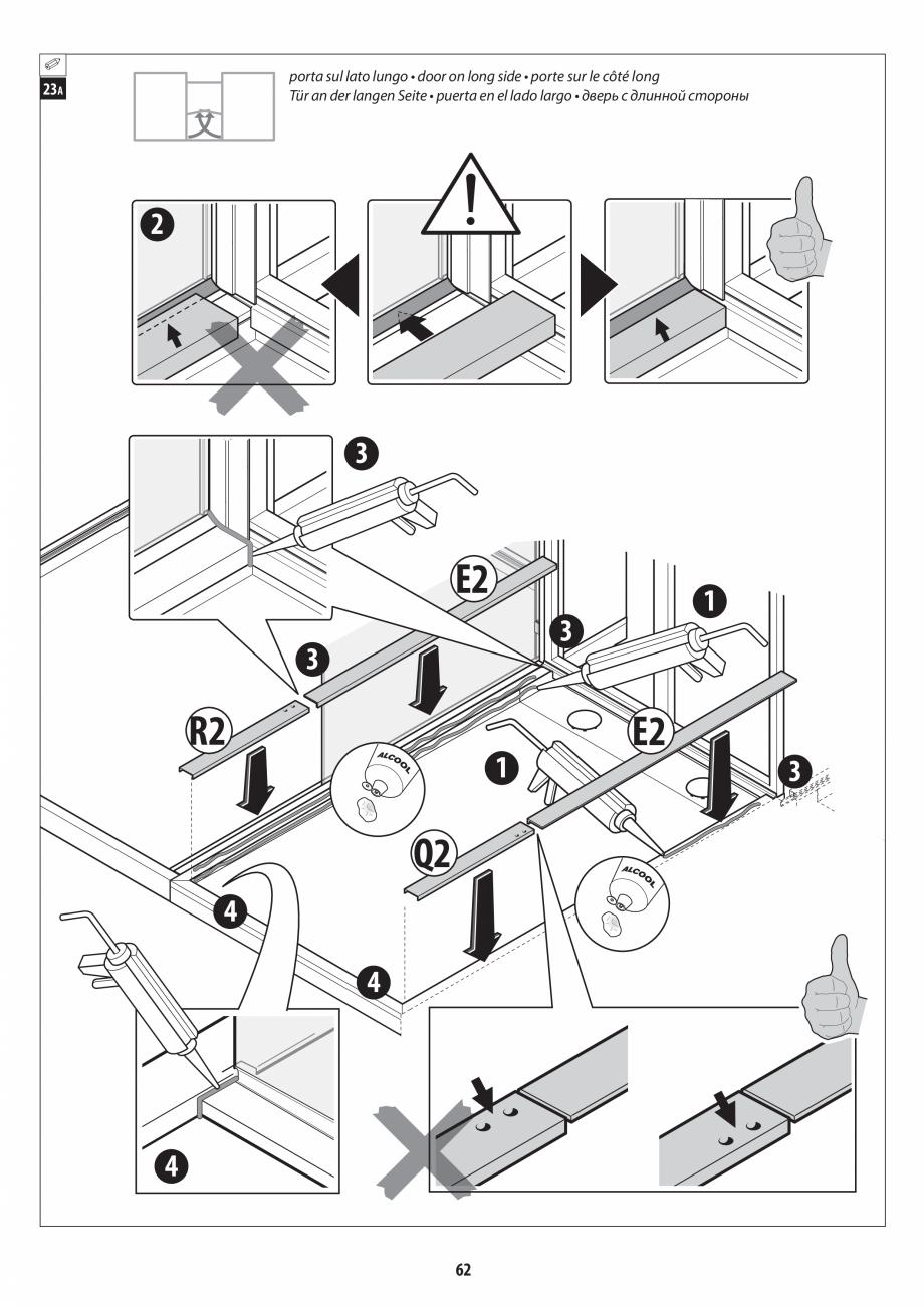 Pagina 62 - Manual de instalare pentru sauna + dus + hammam /sauna+ dus + sauna /hammam + dus +...