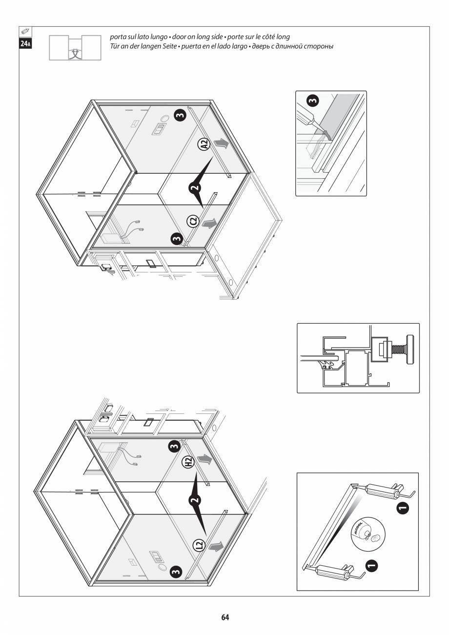 Pagina 64 - Manual de instalare pentru sauna + dus + hammam /sauna+ dus + sauna /hammam + dus +...
