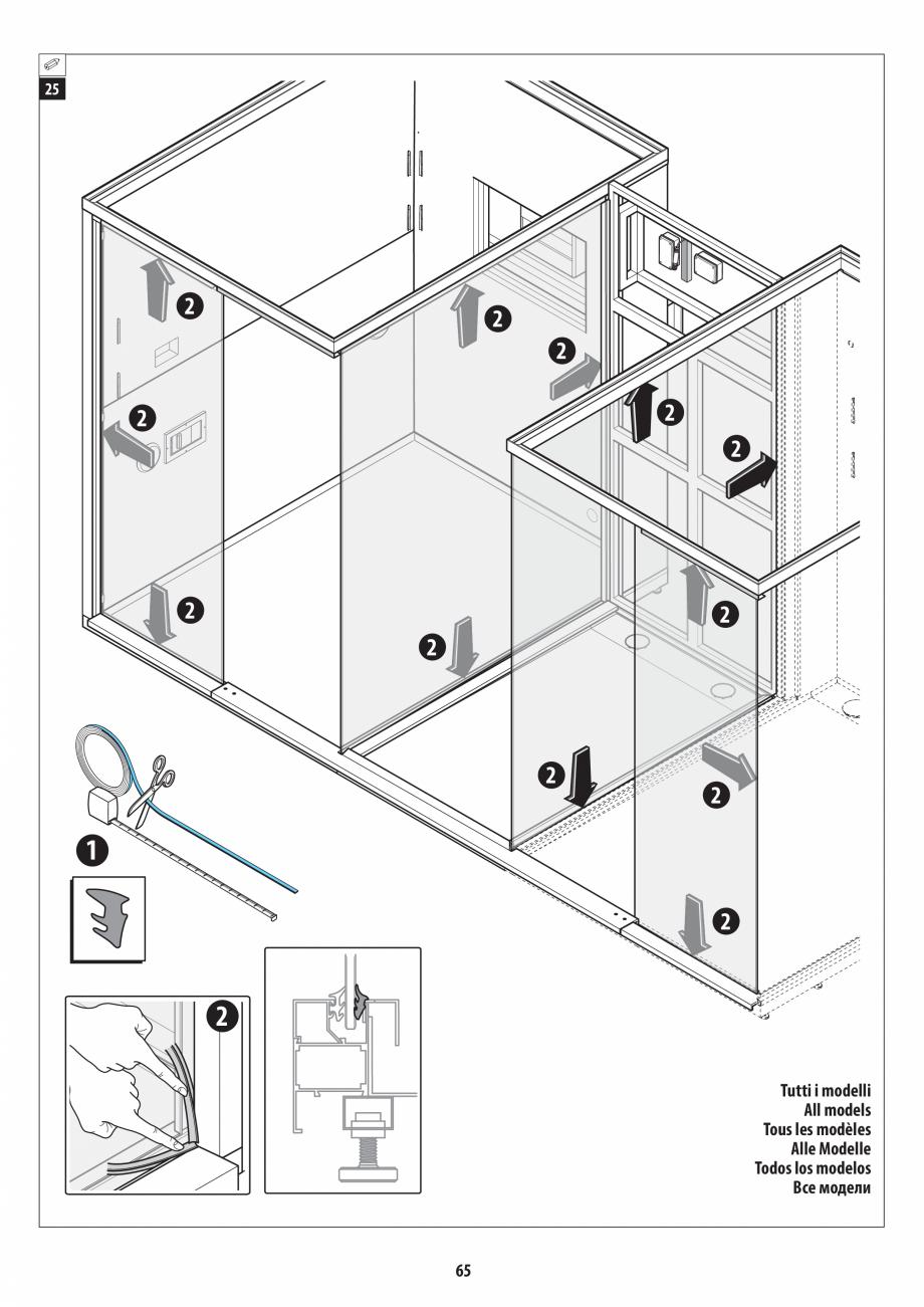 Pagina 65 - Manual de instalare pentru sauna + dus + hammam /sauna+ dus + sauna /hammam + dus +...