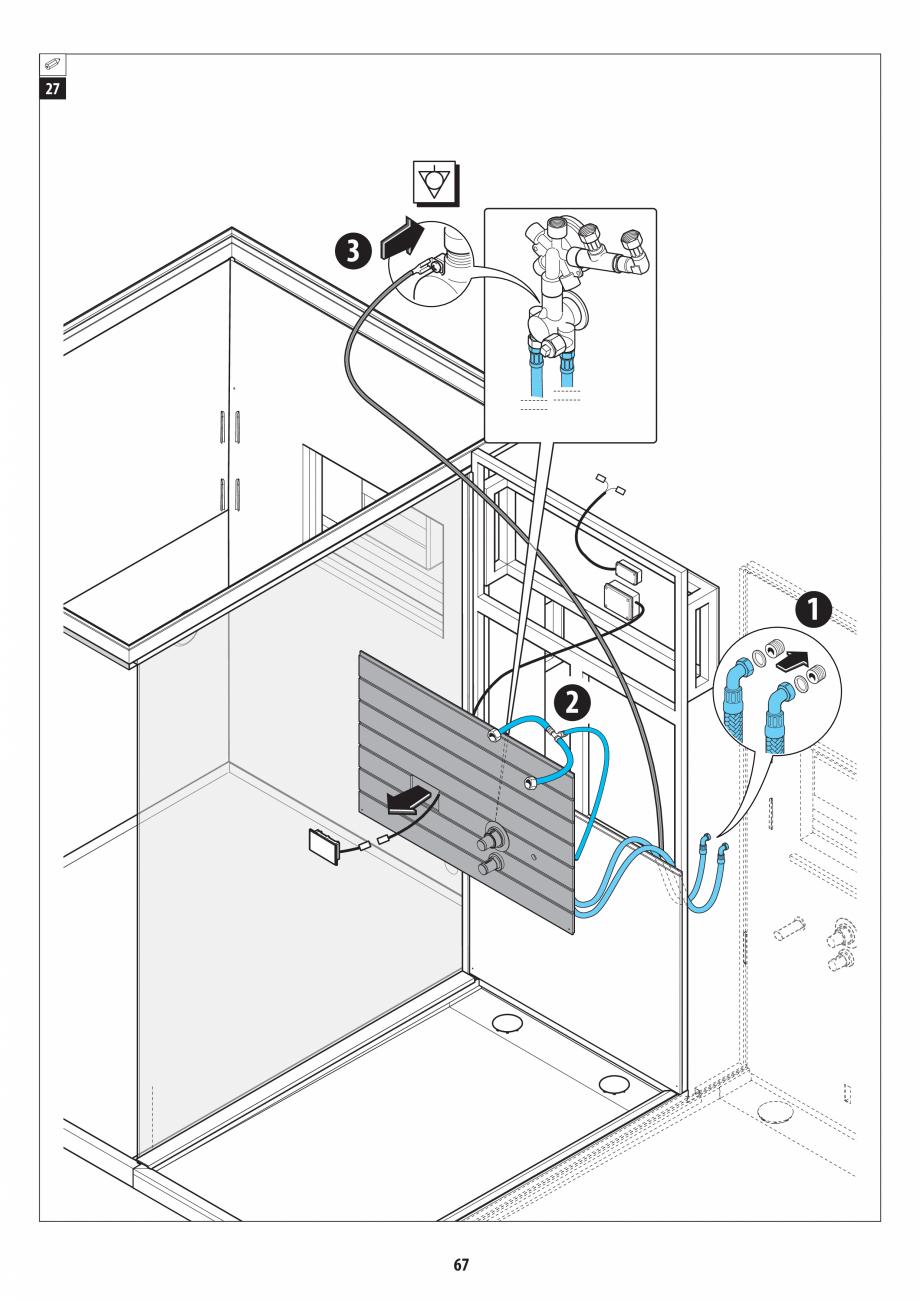 Pagina 67 - Manual de instalare pentru sauna + dus + hammam /sauna+ dus + sauna /hammam + dus +...