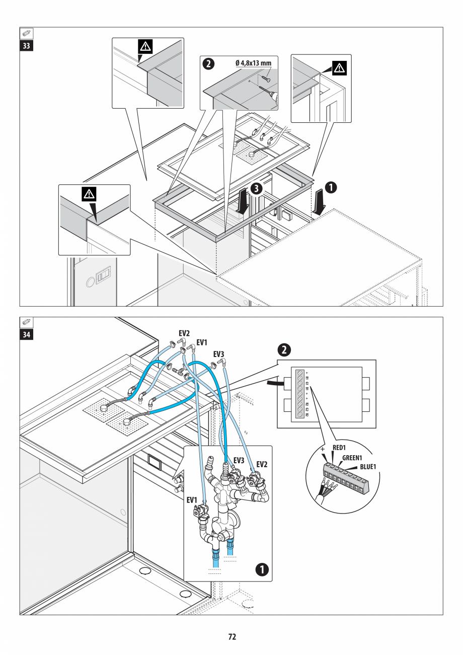 Pagina 72 - Manual de instalare pentru sauna + dus + hammam /sauna+ dus + sauna /hammam + dus +...
