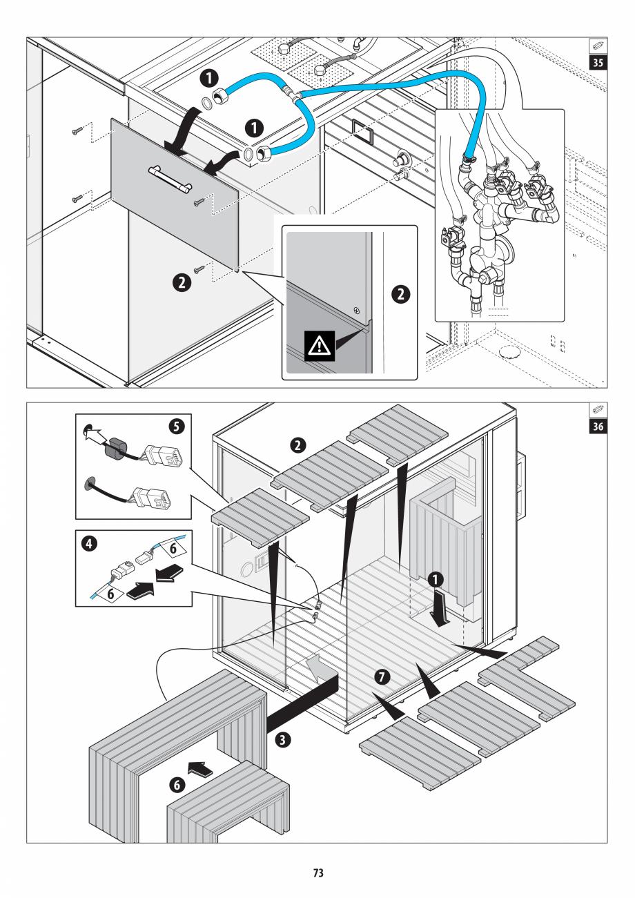 Pagina 73 - Manual de instalare pentru sauna + dus + hammam /sauna+ dus + sauna /hammam + dus +...