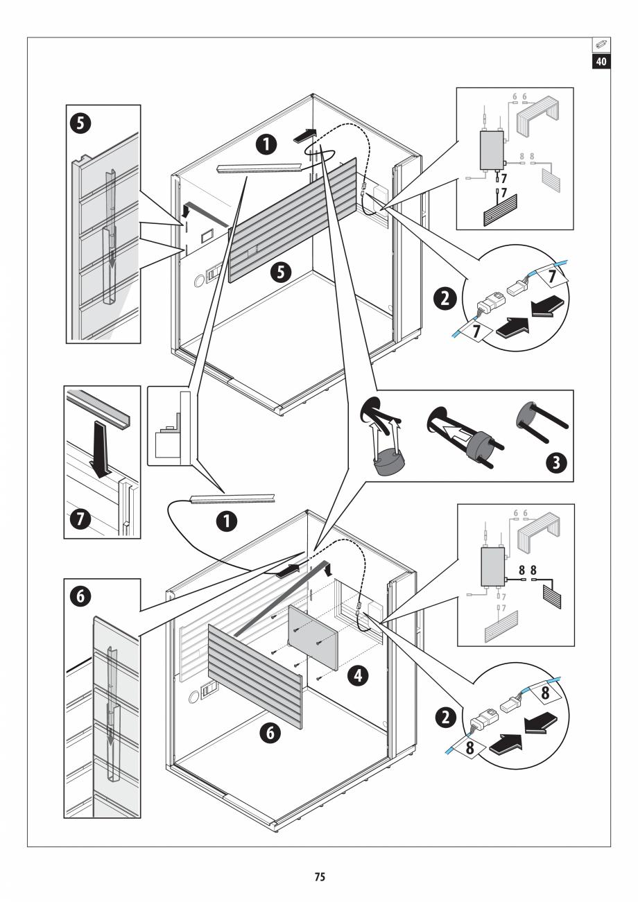 Pagina 75 - Manual de instalare pentru sauna + dus + hammam /sauna+ dus + sauna /hammam + dus +...