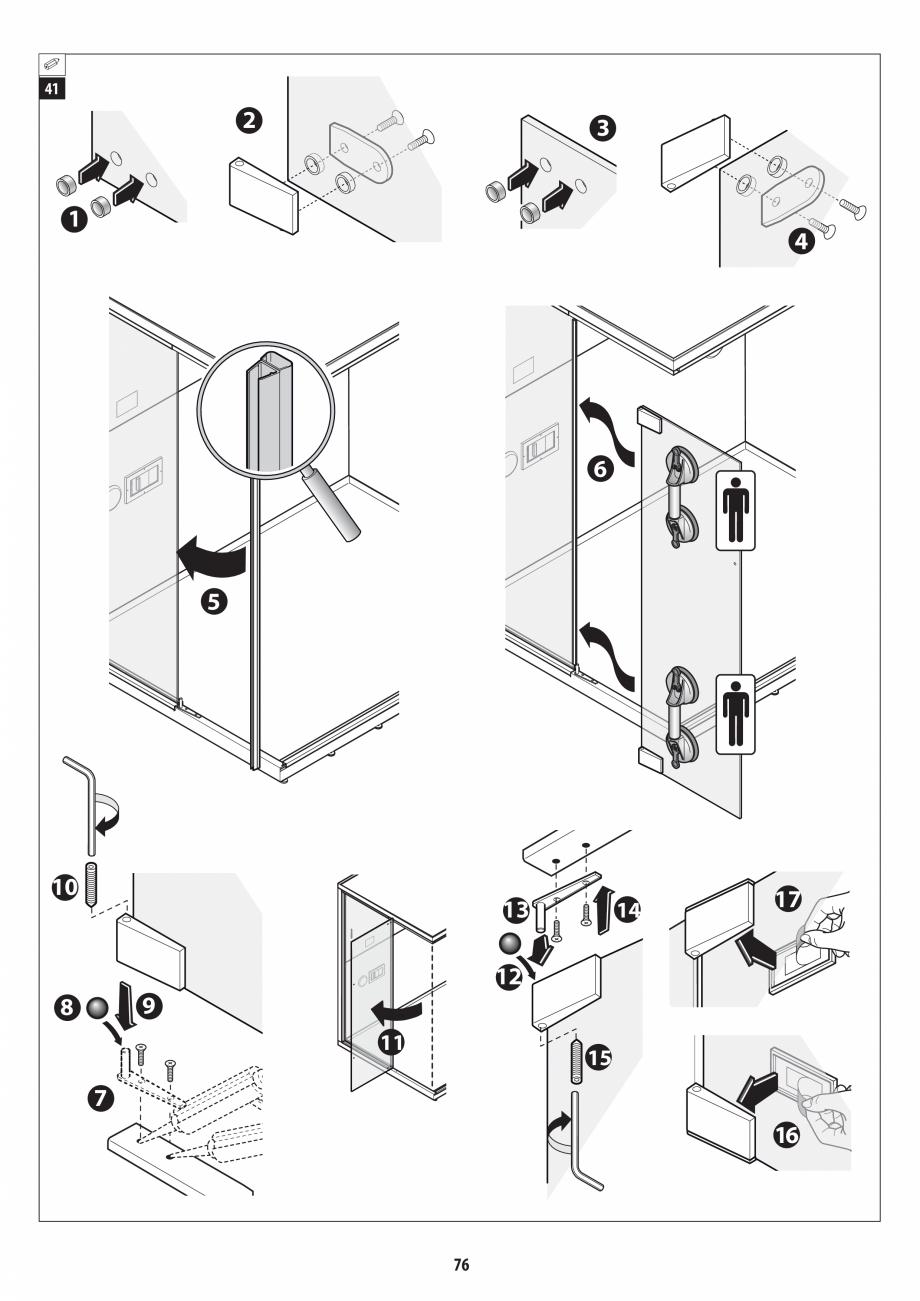 Pagina 76 - Manual de instalare pentru sauna + dus + hammam /sauna+ dus + sauna /hammam + dus +...