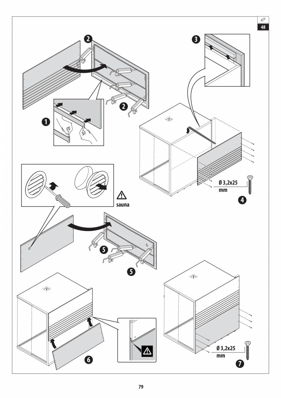 Pagina 79 - Manual de instalare pentru sauna + dus + hammam /sauna+ dus + sauna /hammam + dus +...