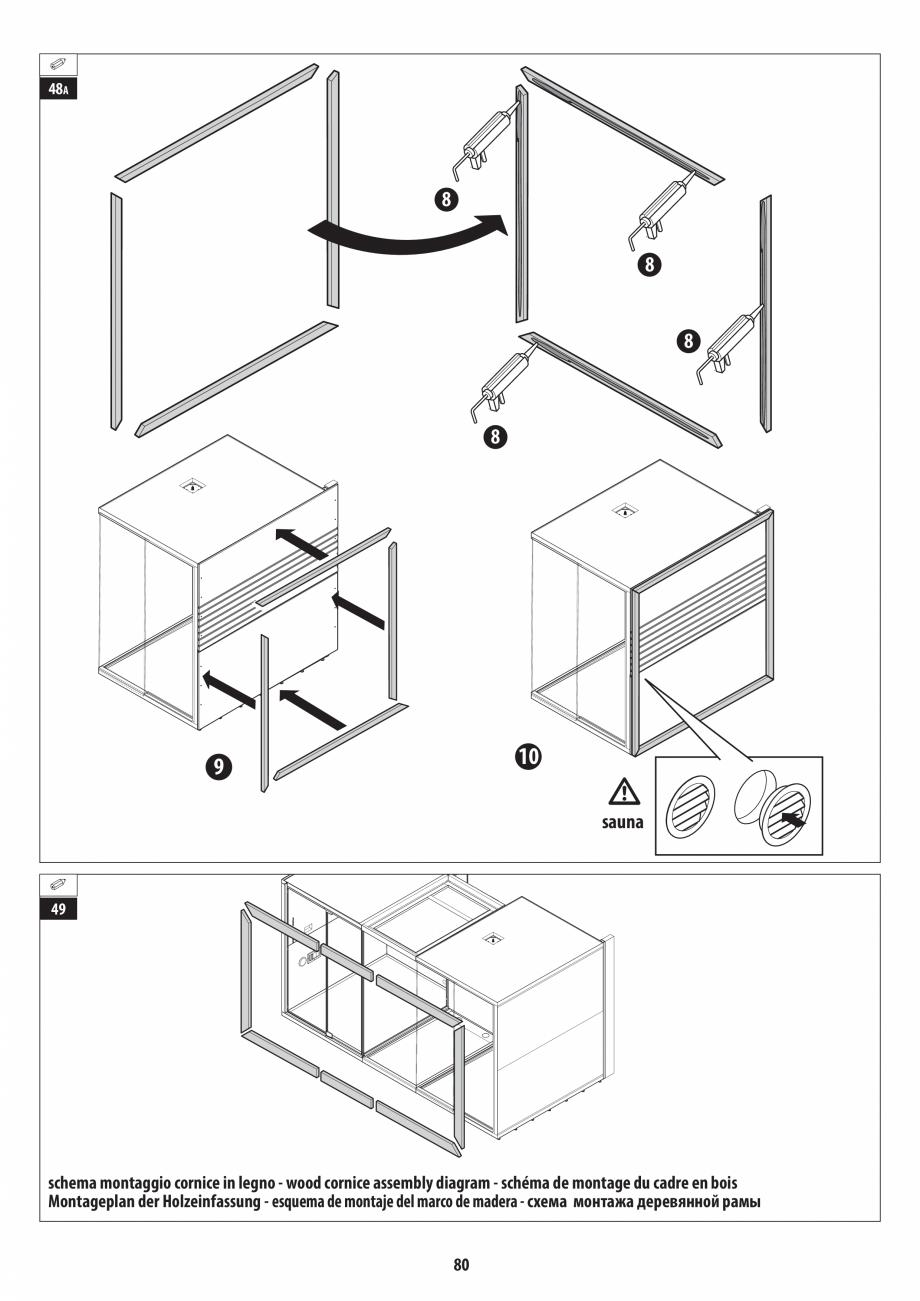 Pagina 80 - Manual de instalare pentru sauna + dus + hammam /sauna+ dus + sauna /hammam + dus +...