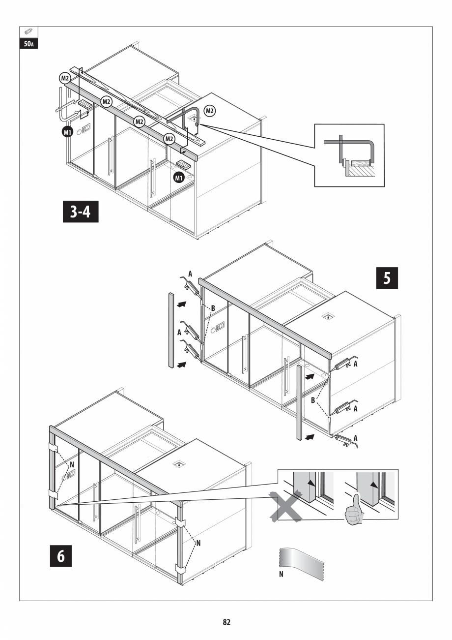 Pagina 82 - Manual de instalare pentru sauna + dus + hammam /sauna+ dus + sauna /hammam + dus +...