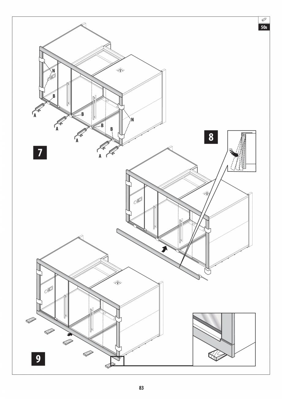 Pagina 83 - Manual de instalare pentru sauna + dus + hammam /sauna+ dus + sauna /hammam + dus +...