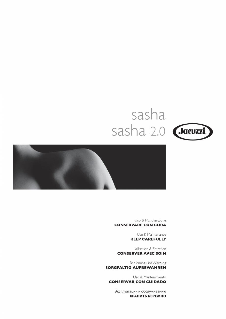 Pagina 1 - Manual de utilizare si intretinere pentru sauna JACUZZI SASHA, SASHA 2.0 Instructiuni...
