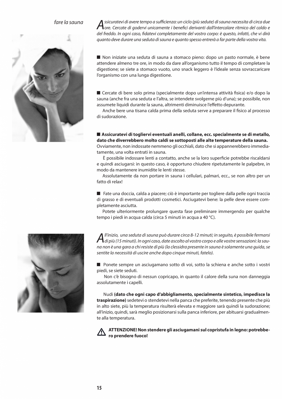 Pagina 15 - Manual de utilizare si intretinere pentru sauna JACUZZI SASHA, SASHA 2.0 Instructiuni...