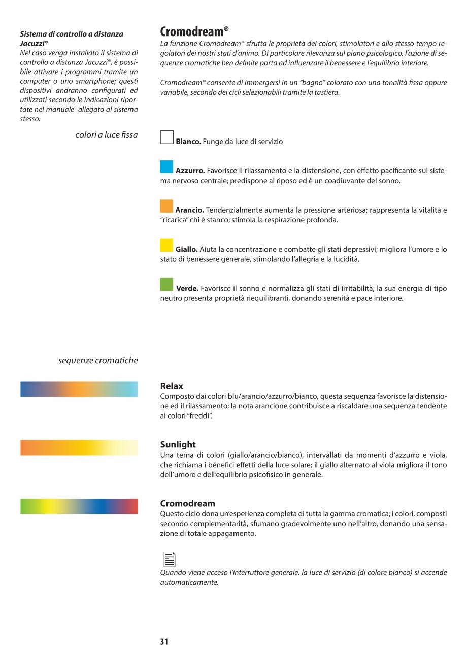 Pagina 31 - Manual de utilizare si intretinere pentru sauna JACUZZI SASHA, SASHA 2.0 Instructiuni...