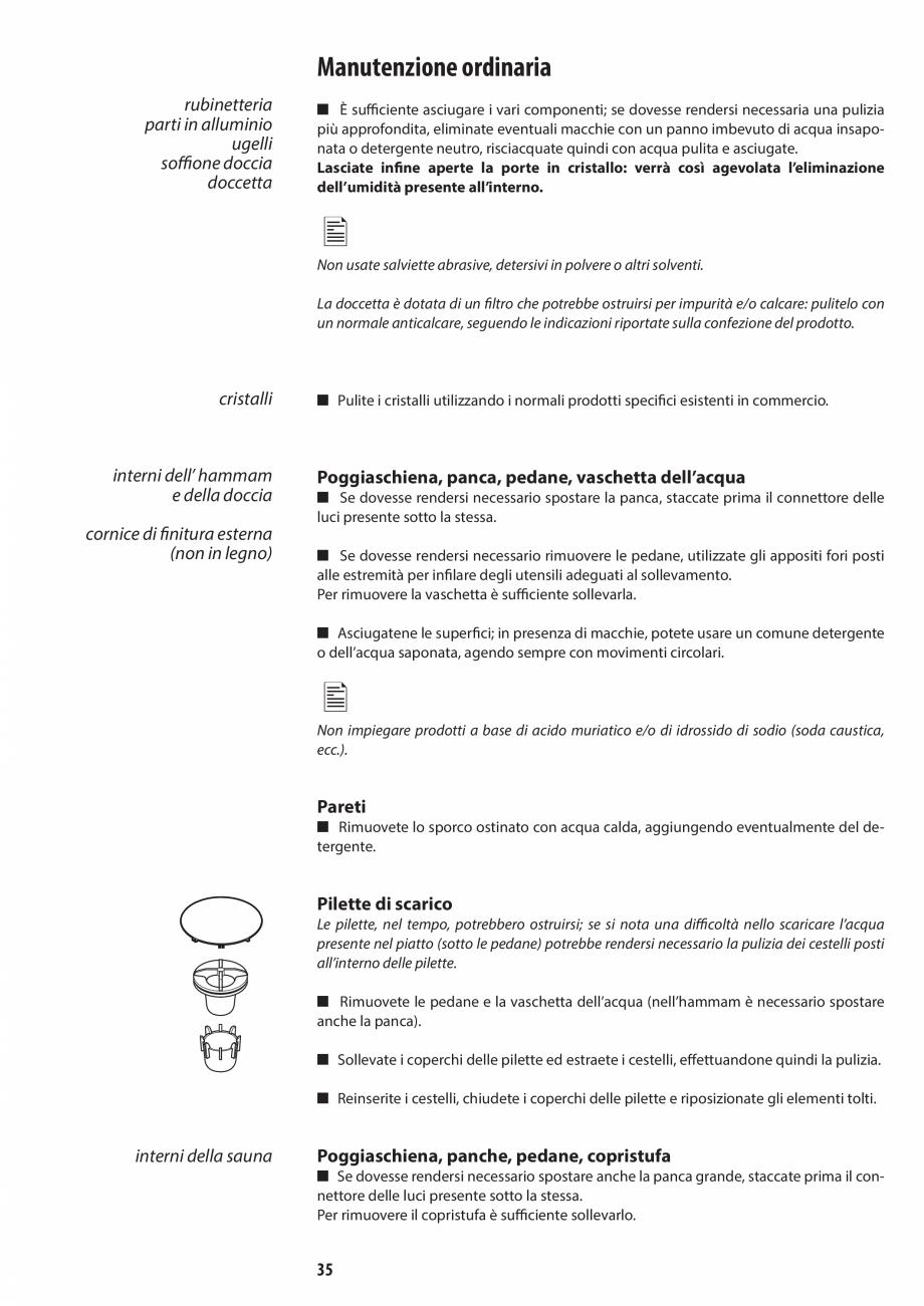 Pagina 35 - Manual de utilizare si intretinere pentru sauna JACUZZI SASHA, SASHA 2.0 Instructiuni...