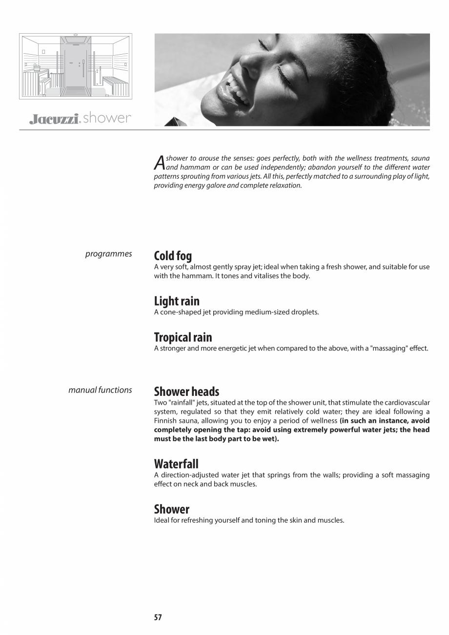 Pagina 57 - Manual de utilizare si intretinere pentru sauna JACUZZI SASHA, SASHA 2.0 Instructiuni...