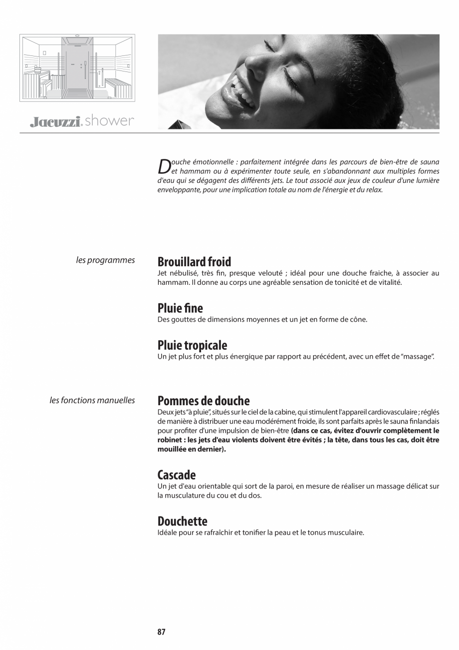 Pagina 87 - Manual de utilizare si intretinere pentru sauna JACUZZI SASHA, SASHA 2.0 Instructiuni...