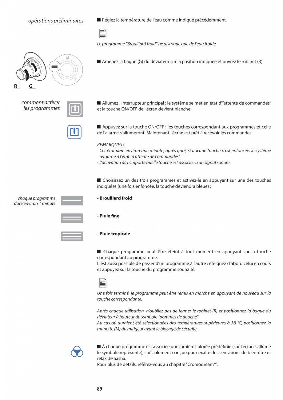 Pagina 89 - Manual de utilizare si intretinere pentru sauna JACUZZI SASHA, SASHA 2.0 Instructiuni...