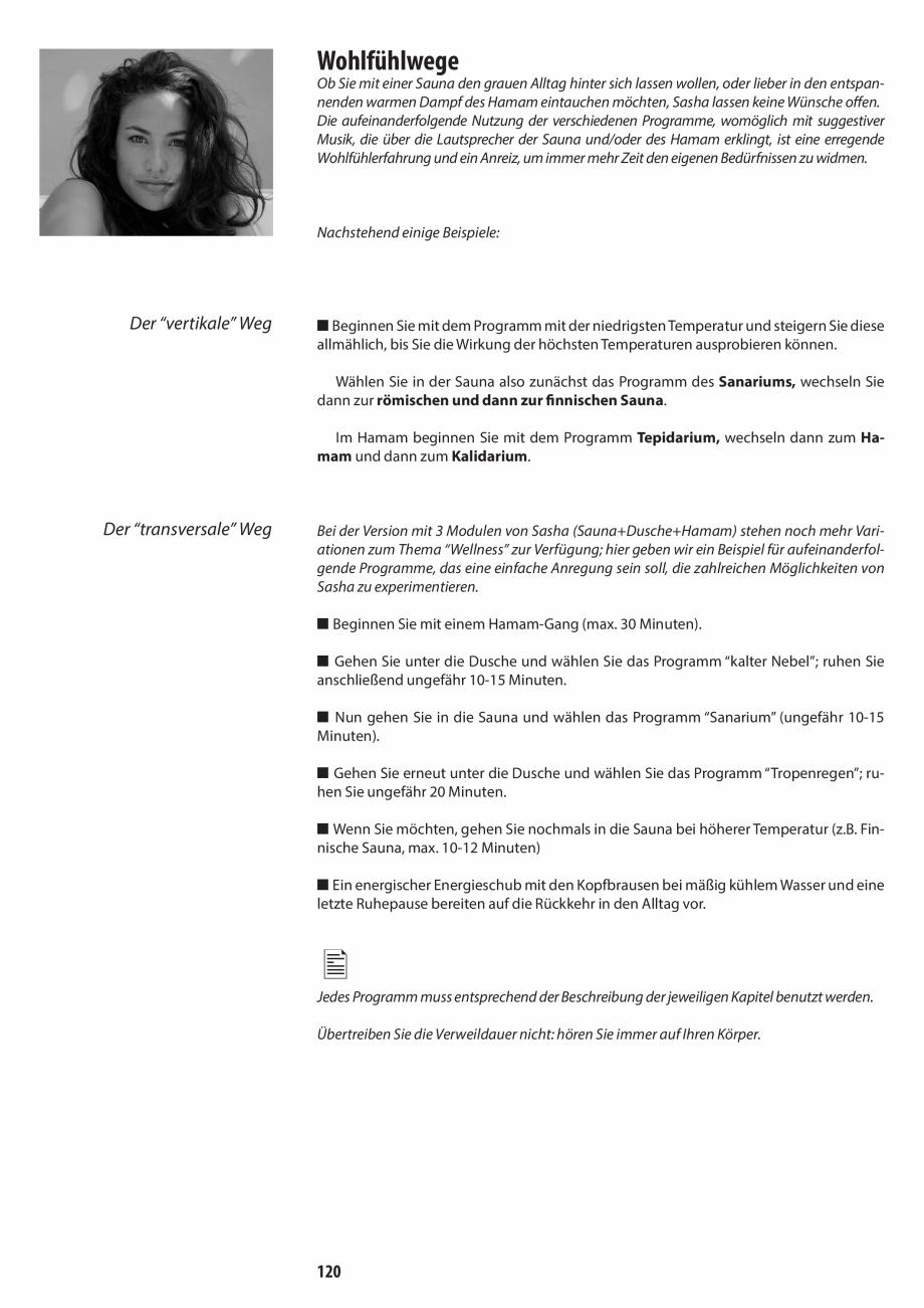 Pagina 120 - Manual de utilizare si intretinere pentru sauna JACUZZI SASHA, SASHA 2.0 Instructiuni...