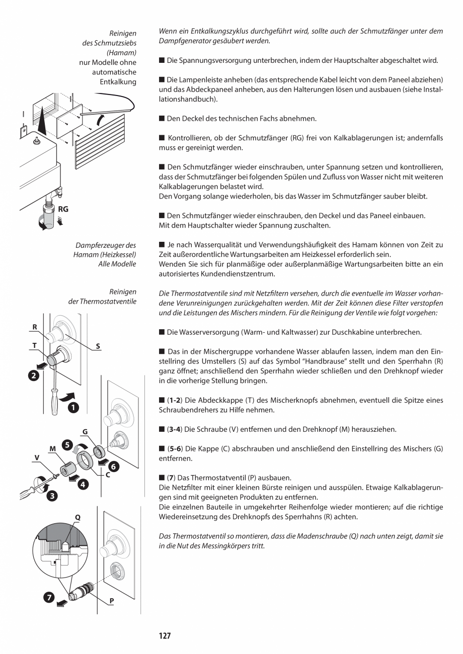 Pagina 127 - Manual de utilizare si intretinere pentru sauna JACUZZI SASHA, SASHA 2.0 Instructiuni...