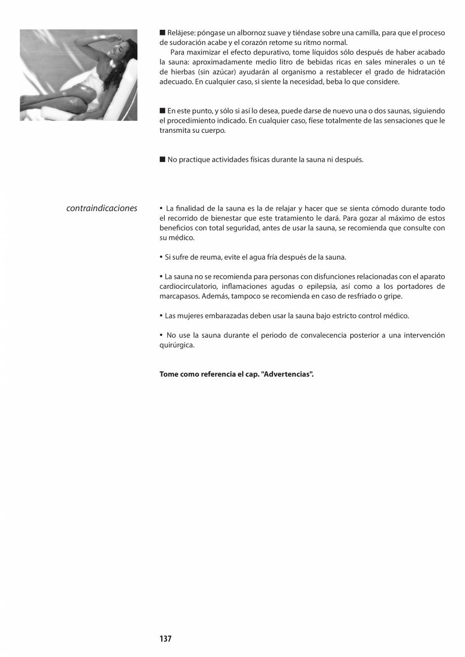 Pagina 137 - Manual de utilizare si intretinere pentru sauna JACUZZI SASHA, SASHA 2.0 Instructiuni...