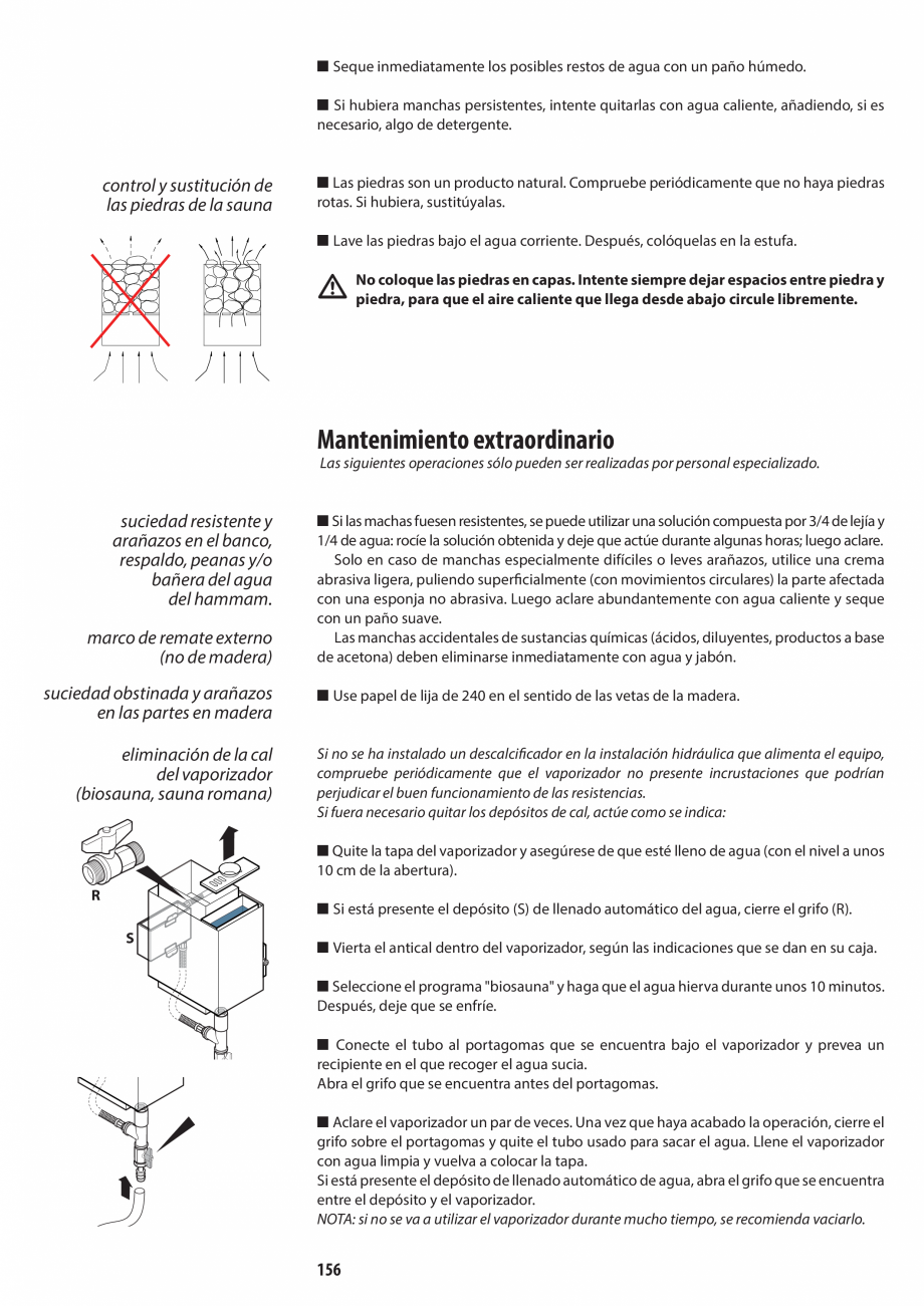 Pagina 156 - Manual de utilizare si intretinere pentru sauna JACUZZI SASHA, SASHA 2.0 Instructiuni...