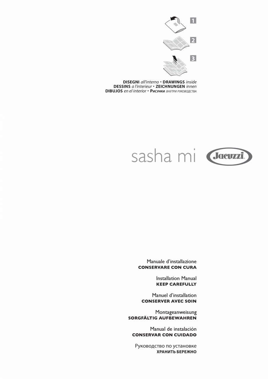 Pagina 1 - Manual de instalare pentru sauna JACUZZI SASHA MI Instructiuni montaj, utilizare Engleza,...