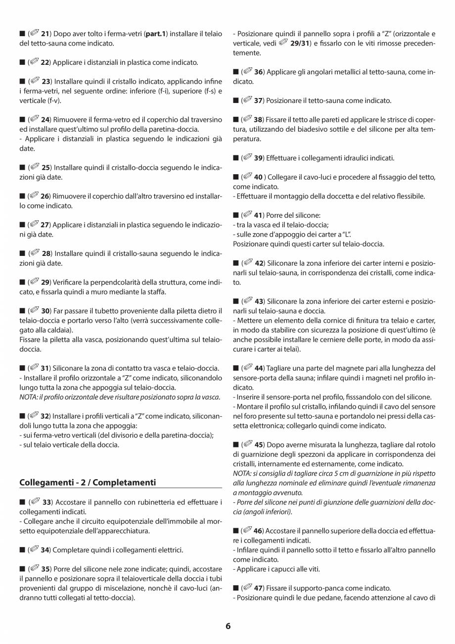 Pagina 6 - Manual de instalare pentru sauna JACUZZI SASHA MI Instructiuni montaj, utilizare Engleza,...