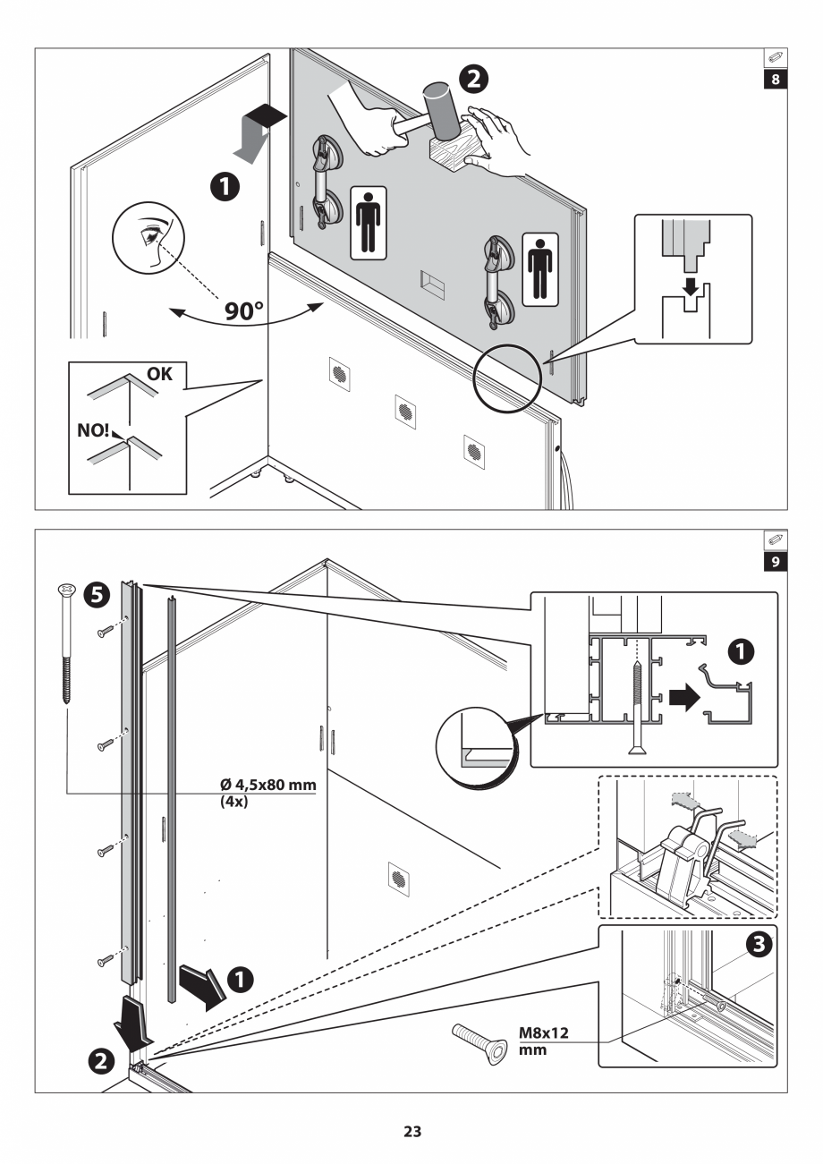 Pagina 23 - Manual de instalare pentru sauna JACUZZI SASHA MI Instructiuni montaj, utilizare Engleza...