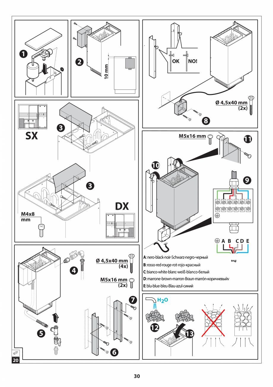 Pagina 30 - Manual de instalare pentru sauna JACUZZI SASHA MI Instructiuni montaj, utilizare Engleza...
