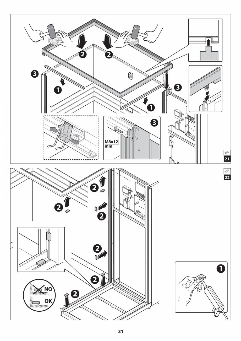 Pagina 31 - Manual de instalare pentru sauna JACUZZI SASHA MI Instructiuni montaj, utilizare Engleza...