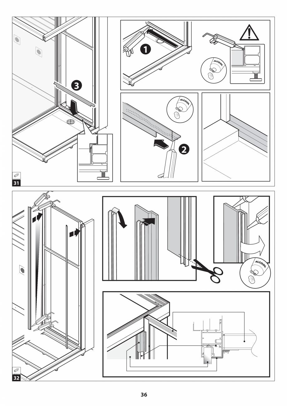 Pagina 36 - Manual de instalare pentru sauna JACUZZI SASHA MI Instructiuni montaj, utilizare Engleza...