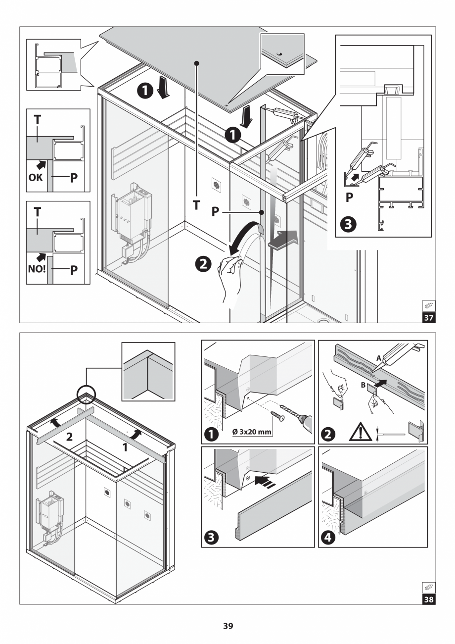 Pagina 39 - Manual de instalare pentru sauna JACUZZI SASHA MI Instructiuni montaj, utilizare Engleza...