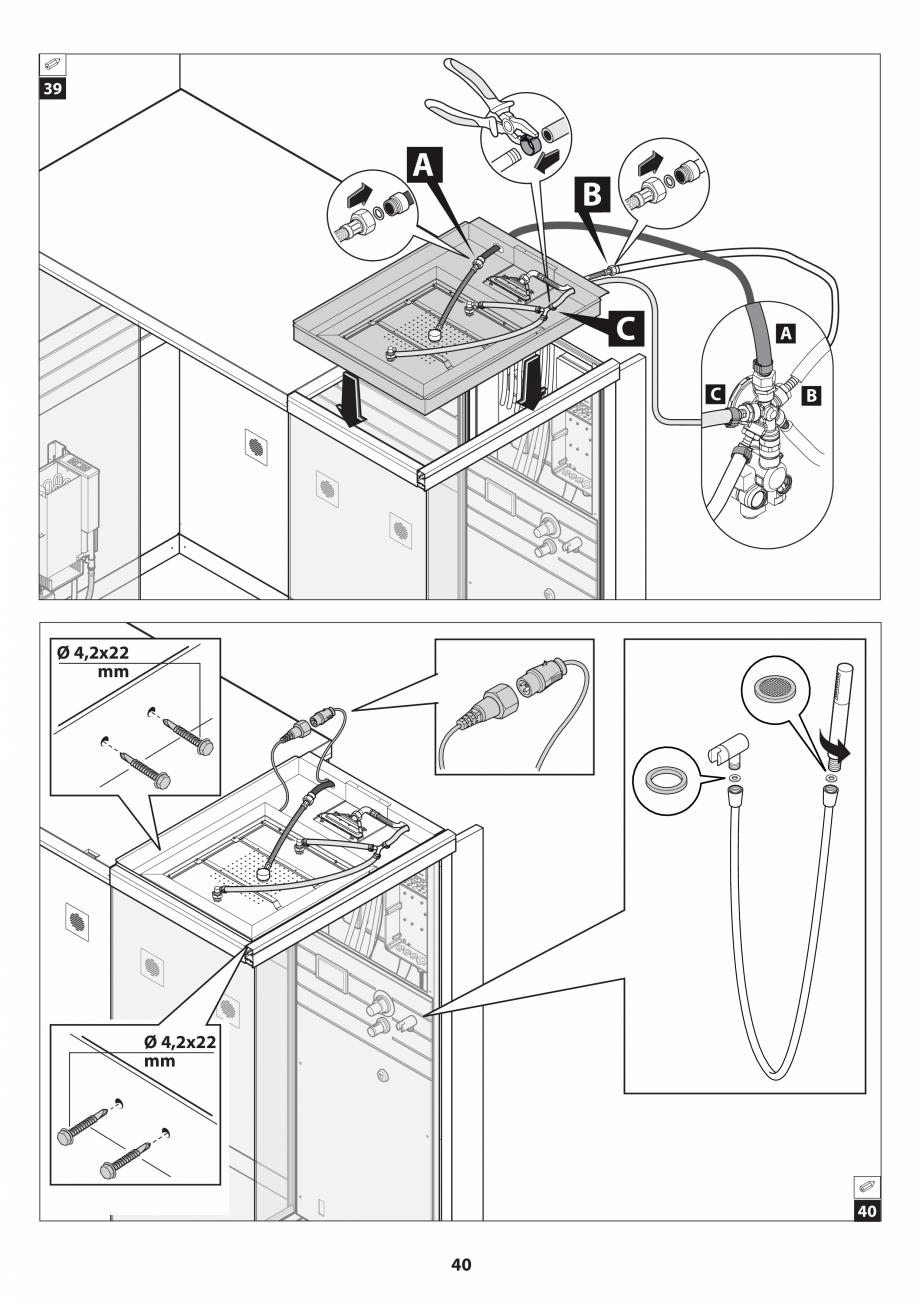 Pagina 40 - Manual de instalare pentru sauna JACUZZI SASHA MI Instructiuni montaj, utilizare Engleza...