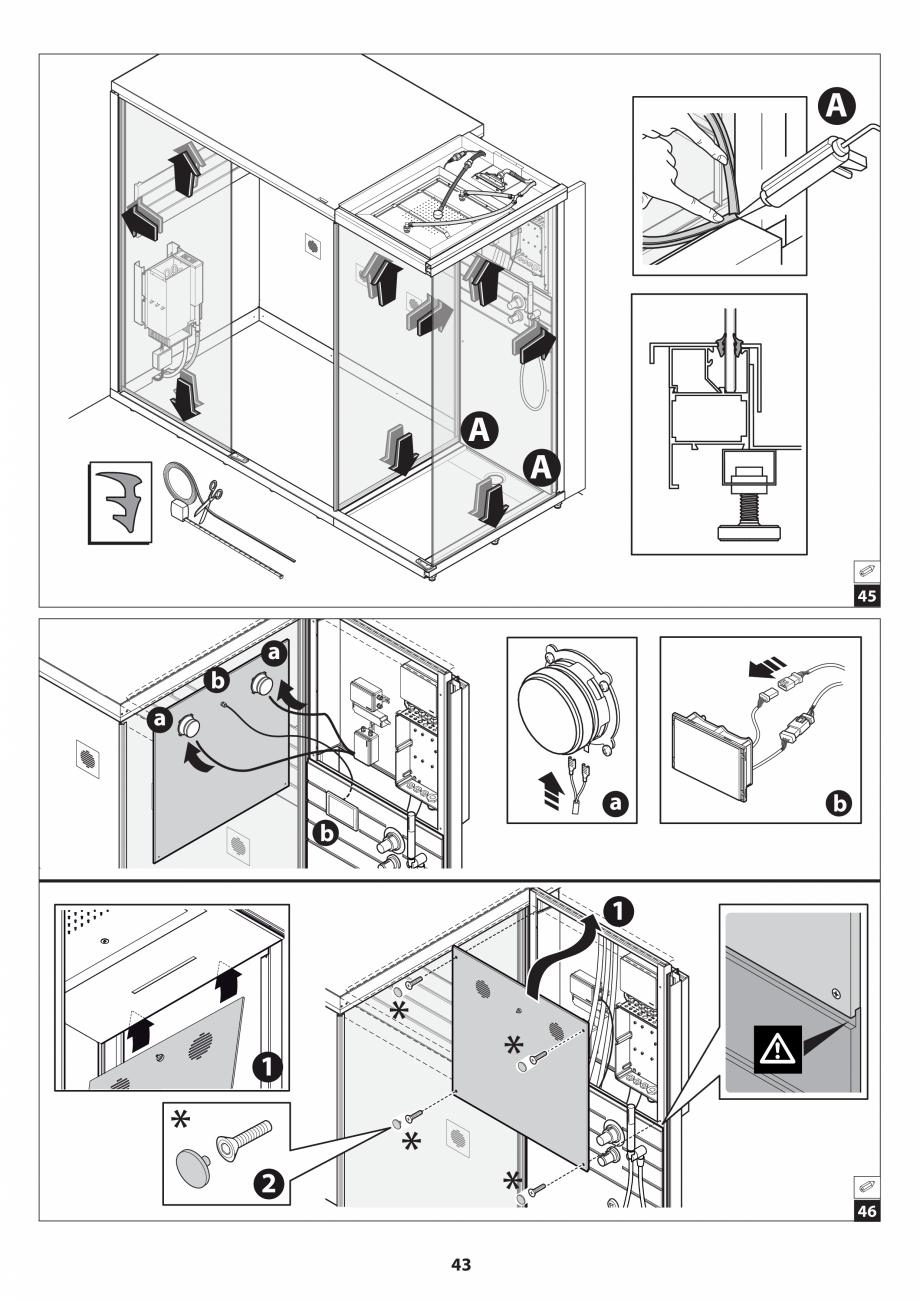 Pagina 43 - Manual de instalare pentru sauna JACUZZI SASHA MI Instructiuni montaj, utilizare Engleza...