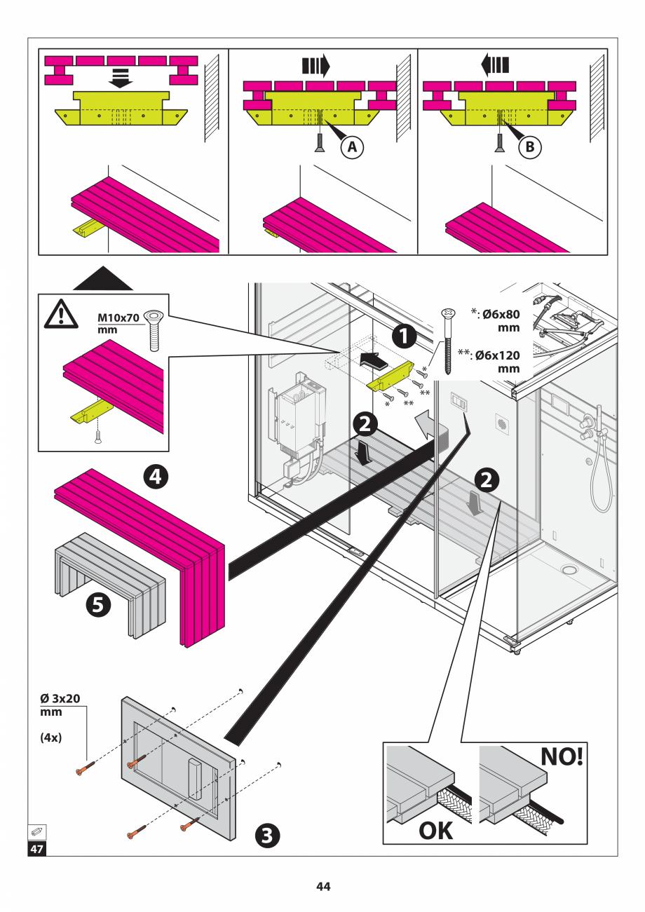 Pagina 44 - Manual de instalare pentru sauna JACUZZI SASHA MI Instructiuni montaj, utilizare Engleza...