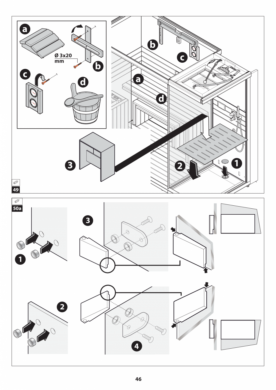 Pagina 46 - Manual de instalare pentru sauna JACUZZI SASHA MI Instructiuni montaj, utilizare Engleza...