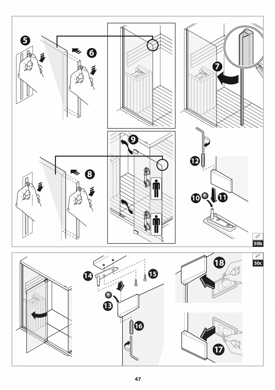 Pagina 47 - Manual de instalare pentru sauna JACUZZI SASHA MI Instructiuni montaj, utilizare Engleza...