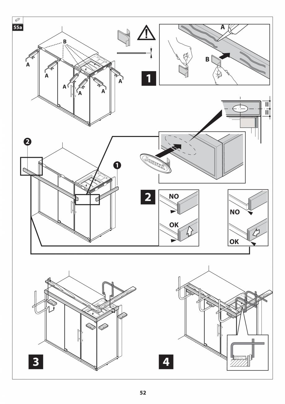 Pagina 52 - Manual de instalare pentru sauna JACUZZI SASHA MI Instructiuni montaj, utilizare Engleza...