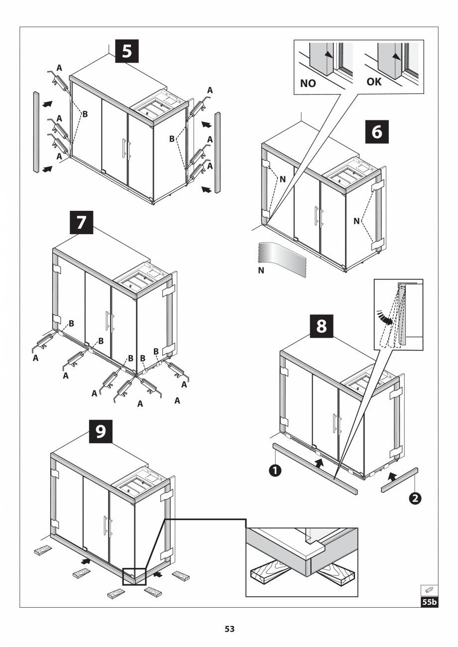 Pagina 53 - Manual de instalare pentru sauna JACUZZI SASHA MI Instructiuni montaj, utilizare Engleza...
