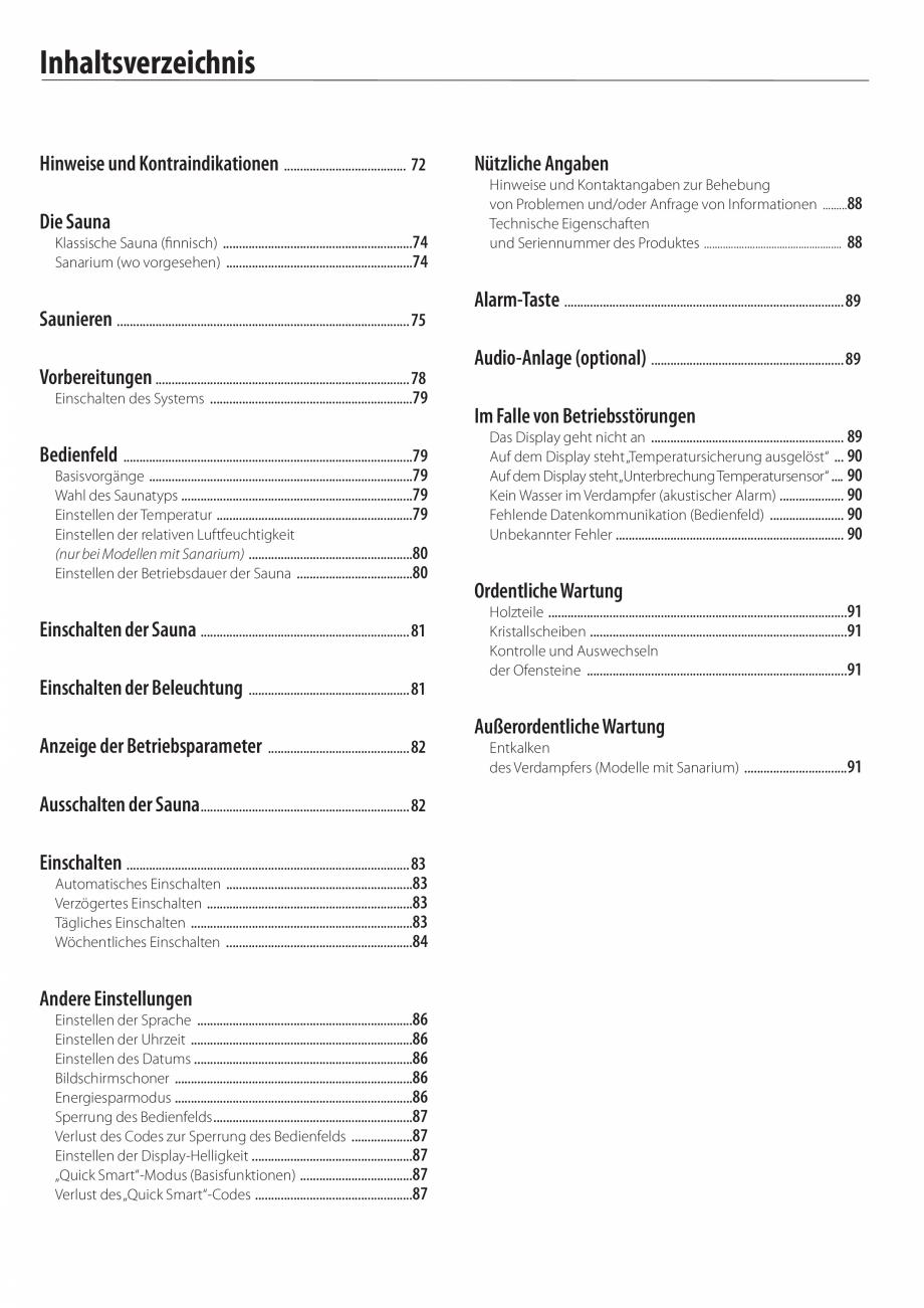 Pagina 6 - Manualul utilizatorului pentru sauna JACUZZI MOOD Instructiuni montaj, utilizare Engleza,...