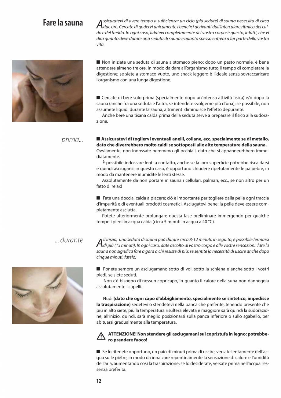 Pagina 12 - Manualul utilizatorului pentru sauna JACUZZI MOOD Instructiuni montaj, utilizare Engleza...