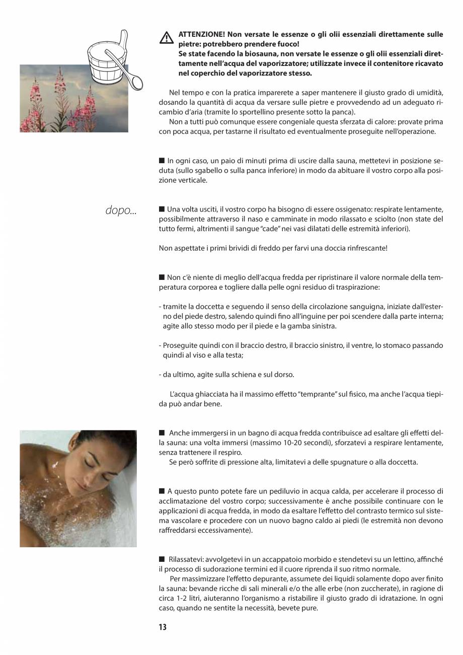 Pagina 13 - Manualul utilizatorului pentru sauna JACUZZI MOOD Instructiuni montaj, utilizare Engleza...