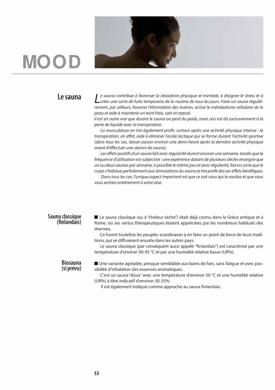 Pagina 53 - Manualul utilizatorului pentru sauna JACUZZI MOOD Instructiuni montaj, utilizare Engleza...